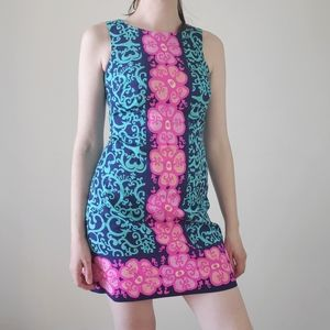 Lilly Pulitzer blue and pink cotton mini dress